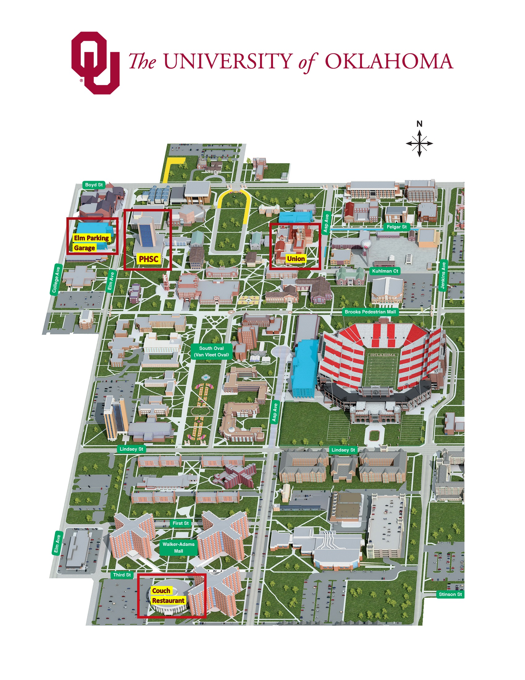 Ou Campus Map SIAM Central States Section   University of Oklahoma Ou Campus Map